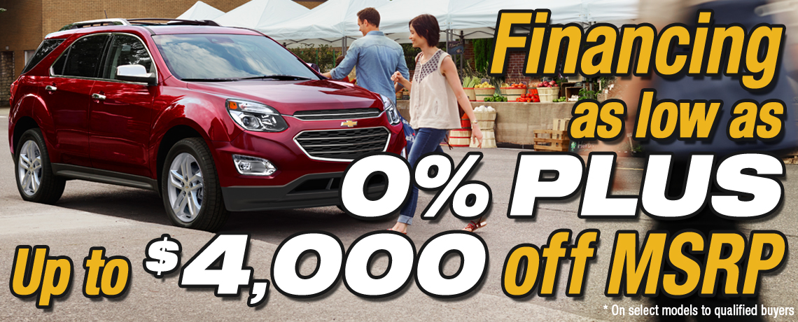 Financing As Low As 0% Plus up to $4000 off MSRP